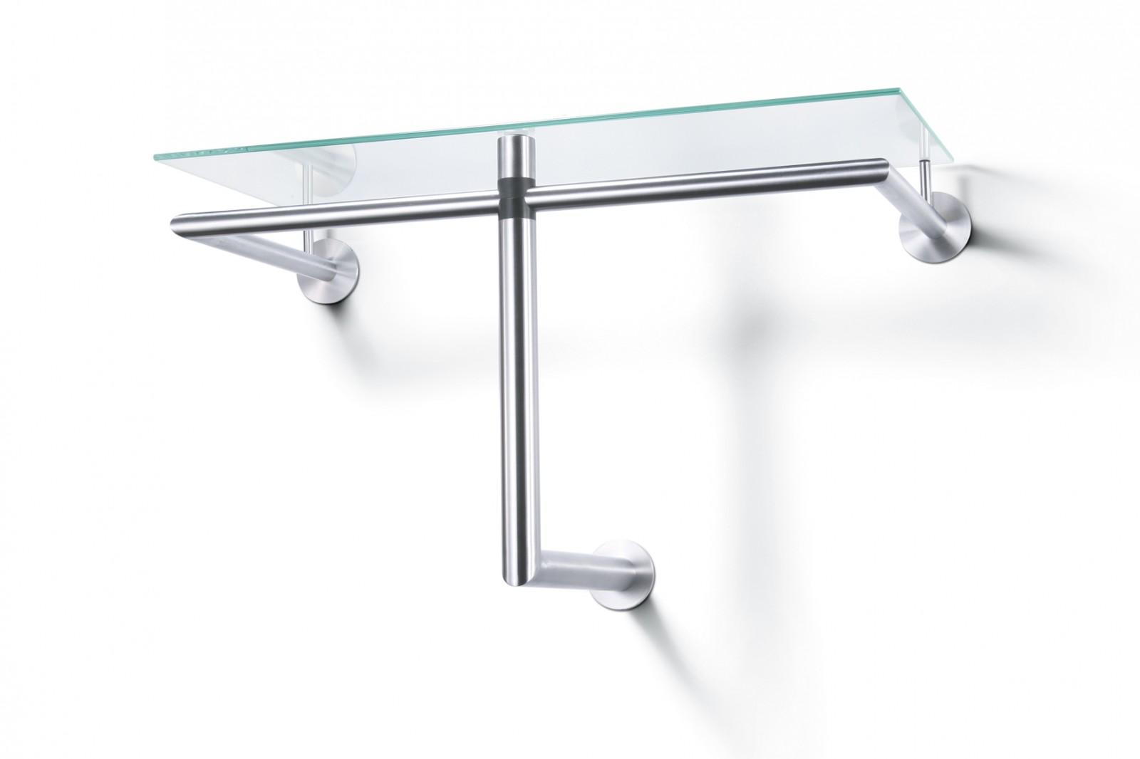edelstahl glas garderobe wandgarderobe hutablage zack 50679 hersteller zack wohnen. Black Bedroom Furniture Sets. Home Design Ideas