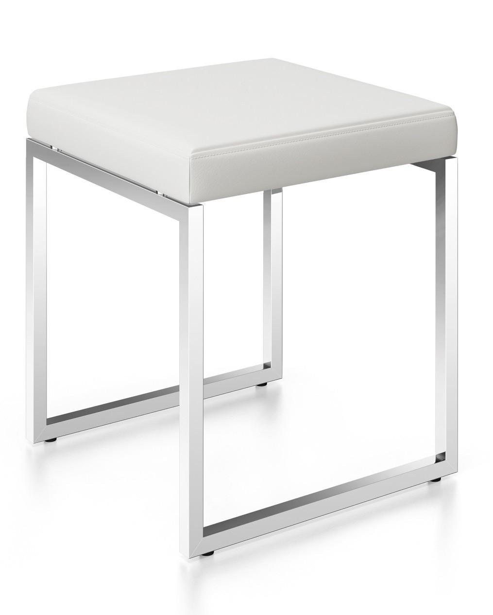 zack edelstahl hocker cenius badhocker stuhl lederhocker. Black Bedroom Furniture Sets. Home Design Ideas