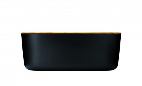 stelton brotkasten schwarz brotkorb schneidebrett rig tig z00038 k che k rbe schalen. Black Bedroom Furniture Sets. Home Design Ideas