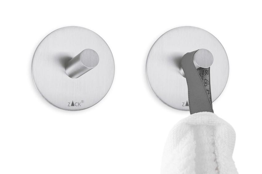 zack edelstahl handtuchhaken rund duplo handtuchhalter 2er. Black Bedroom Furniture Sets. Home Design Ideas