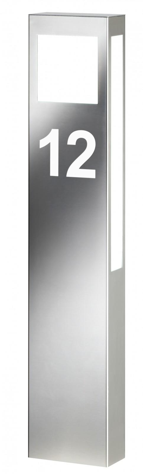 cmd edelstahl au enleuchte mit hausnummer standleuchte 24 hn hersteller cmd. Black Bedroom Furniture Sets. Home Design Ideas