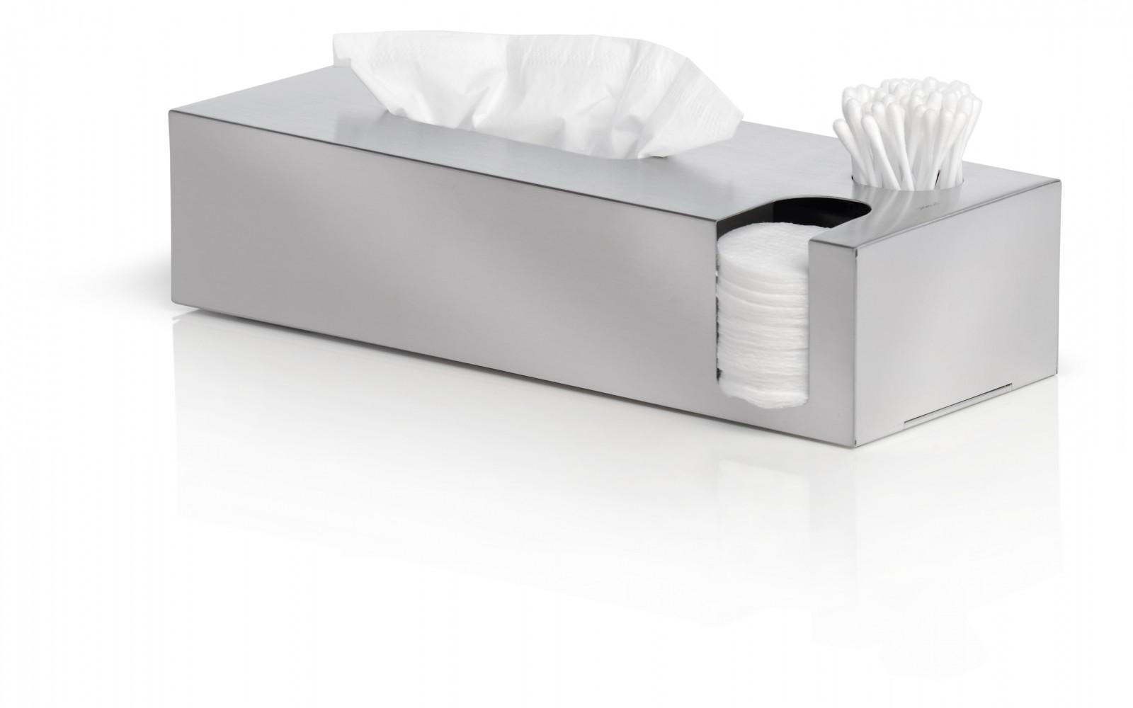blomus edelstahl box f r kosmetikt cher wattest bchen wattepads kombibox nexio 68689 bad bad. Black Bedroom Furniture Sets. Home Design Ideas